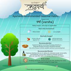 Ritucharya (ऋतुचर्या) - Ayurveda Recommended Seasonal Habits - Part 2 Health Facts, Health Tips, Health Quotes, Pitta Dosha, Sanskrit Quotes, Ayurvedic Healing, Ayurveda Yoga, Improve Mental Health, Naturopathy