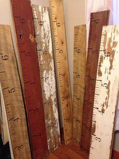 Growth Chart  salvaged barn wood / siding by SalvagedCreation