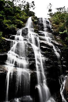 Waterfall: Véu da Noiva at Parque Nacional de Itatiaia, Brazil.
