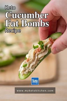 This Keto Bacon Ranch Stuffed Cucumbers recipe makes some delicious keto snacks to fill your tummy! They make a great appetizer and are perfect for taking to a potluck or cookout - no one will even know that they're low carb! These gluten-free bites also are a great savory fat bomb. Low Carb Keto, Low Carb Recipes, Free Recipes, Healthy Recipes, Savory Snacks, Keto Snacks, Snack Recipes, Banting, Lchf