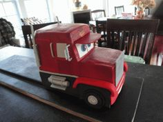 Jackson's Lightening McQueen & Mack Cake @ McGreevy Cakes