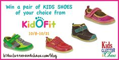 KidOFit Kids Shoes Giveaway - Travelin' with Baby Giveaway Hop #BabyTravels - Kids Clutter and Chaos | Kids Products
