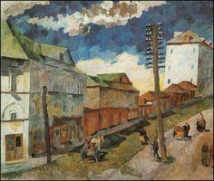 Street in Sergiev Posad (1922) Aristarkh Vasílievich Lentulov (Аристарх Васильевич Лентулов. Unión Soviética. Rusia, 1882-1943)