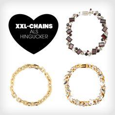 Die perfekte Wahl für schlichte Statements sind jetzt XXL-Chains!