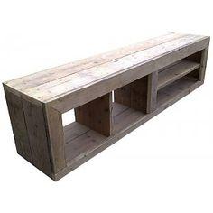 Steigerhout van Het Woonrecept TV-meubel steigerhout grijs/naturel 150x50x43