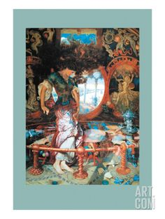 The Lady of Shalott Wall Decal by William Holman Hunt at Art.com