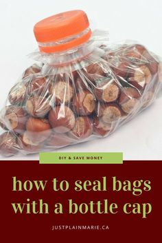 For whatever reason you have a bag but no twist tie or zip seal. Raid the recycling bin and find out how to seal a bag with a bottle cap #diy #green #upcycle