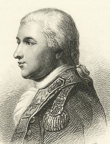 Tench Tilghman (1744-1786) was an officer in the Continental Army during the American Revolutionary war. He served as an aide de camp to General George Washington, achieving the rank of lieutenant colonel. He was granted the honor at Yorktown of delivering the papers detailing General Cornwallis's surrender to Congress.