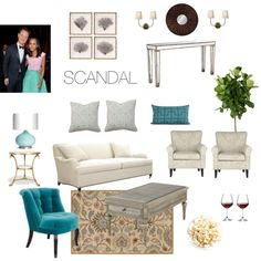 Olivia Pope's living room by karenkibbee on Polyvore featuring polyvore, interior, interiors, interior design, home, home decor, interior decorating, Hickory Chair Furniture, The Velvet Chair Company and Safavieh