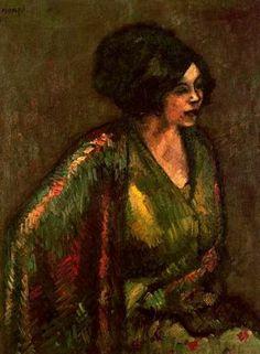 "Isidre Nonell Monturiol (1873 - 1911). ""Flores, 1910"". Óleo sobre lienzo. 100 x 80,5 cms. Museo de Arte Moderno. Barcelona. España."