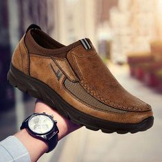 Menico Men Large Size Hand Stitching Microfiber Leather Non-slip Casual Shoes Oxfords, Leather Loafers, Loafer Shoes, Loafers Men, Leather Men, Men's Shoes, Dress Shoes, Shoes Men, Casual Loafers