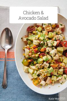 Chicken and Avocado Salad Recipe / Chunky and creamy and satisfying. This, like pretty much all salads, is a super flexible recipe.  #chickensalad #avocadosalad #healthy #glutenfree Avocado Salad Recipes, Avocado Chicken Salad, Chicken Salad Recipes, Top Recipes, Summer Recipes, Great Recipes, Favorite Recipes, How To Prepare Avocado, List Of American Foods