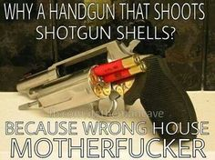 Handgun shoots shotgun shells