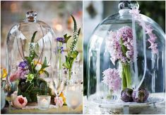 Gorgeous Glass Cloche & Wooden Centerpieces with Moss and Gold Brass Vases & Candlesticks. Perfect for rustic whimsical wedding tablescape inspiration. Wooden Centerpieces, Table Decorations, Holiday Decorations, Enchanted Garden Wedding, Table Etiquette, My French Country Home, Unique Wedding Venues, Whimsical Wedding, Wedding Ideas