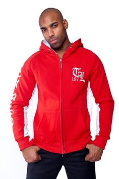"""Thug Life Zip Hoodie """"TL 187"""" Red"""