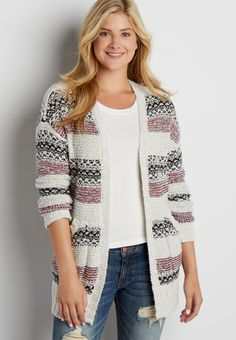 Maurices: $26.40  XL, XXL  cardigan with stripes (original price, $44.00) available at #Maurices
