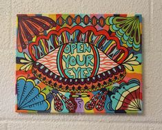 Open Your Eyes canvas painting by MVcanvases on Etsy