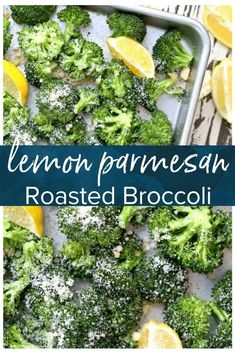Parmesan Roasted Broccoli is simple, delicious, & healthy. This baked broccoli side dish is perfect for any meal. Try this garlic, lemon, & parmesan broccoli recipe tonight! Side Dishes For Fish, Side Dishes For Chicken, Dinner Side Dishes, Best Side Dishes, Healthy Side Dishes, Side Dish Recipes, Side Dishes With Steak, Healthy Sides For Chicken, Fish Sides