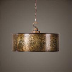 Uttermost Wolcott 3 Light Golden Pendant (22066)
