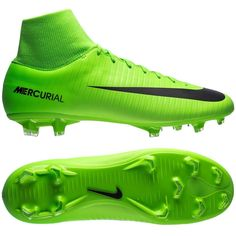 Nike Mercurial Victory VI FG  2017 Dynamic Fit Soccer Shoes New Ghost Green