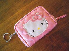 #Sanrio #HELLOKITTY #Pink #Wallet with #KeyChain EUC!