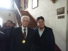 Con el líder histórico de Acción Popular, Javier Alva Orlandini, en el Colegio de Abogados. (2011)