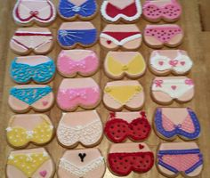 Bikini Cookies that I made for my hubby and friends when they took their motorcycles to Myrtle beach 2015