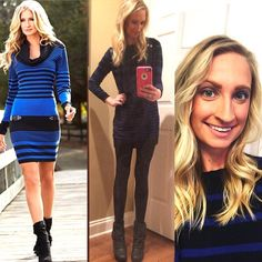 // Michael kors blue & black stripe dress // goodwill outfit // #pinneditthriftedit #keepinitthrifty