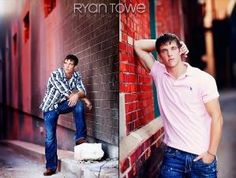 Senior boy poses by Jimmie Lincoln