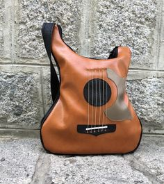Yellow Bag Electric Guitar Accessories Rave Outfit Women Guitar Bag Strap Vegan Leather Guitar Purse Guitar Gifts for Her Bass Bag