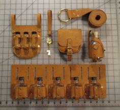 Adventurer's Belt Combo Alchemist Kit all brass by ChaseTheMyth