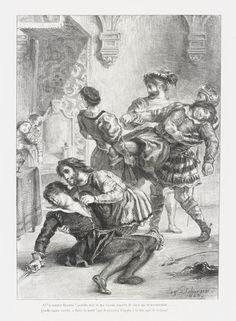 Eugène Delacroix, 'Mort d'Hamlet (Act. V. Sc. II) (Death of Hamlet), from Shakespeare's Hamlet' (1843).