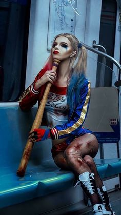 fandom: Suicide Squad character: Harley Quinn cosplay by: Katie Kosova (Ukraine) photo: Tim Rise made on winter 2016 Joker Und Harley Quinn, Harley Quinn Halloween, Harley Quinn Drawing, Margot Robbie Harley Quinn, Harley Quinn Cosplay, Dc Cosplay, Cosplay Girls, Harely Quinn, Daddys Lil Monster