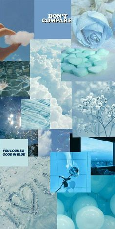 Aesthetic Blue | Retro Wallpaper Iphone, Pretty Wallpaper
