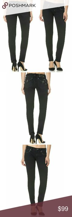 New! Miss Me Embellished Black Skinny Jeans NWT Designed with a slim fit and embellished pockets, these pants are sure to turn heads. Elevate your wardrobe with this style staple from Miss Me.  ?  Zip fly with button closure; Belt loops  Classic 5 pocket styling  Skinny leg  Cotton/Elastane  Machine washable  Approximately 31 inch inseam  Retails for $109.50 Miss Me Jeans Skinny