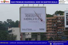 Watch Game of Thrones Season 7, Now streaming Hotstar Premium, Minutes after America, Hours before Torrents.  #OutdoorPromotion: Global Advertisers #GoTOnHotstar #WinterIsHere #Hoardings