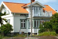 Bilder på vackra vita hus och färgsättningstips