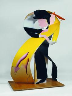 From Royal Academy of Arts, Allen Jones, Fascinating Rhythm (1982-83), Enamel on plywood, 205 × 143 × 98 cm