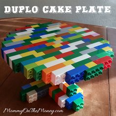 How to Build a LEGO DUPLO Cake Plate - Everyone loved my LEGO cake plate but it was on the more difficult side to put together. Well I guarantee, this one is faster and easier to build if you have the pieces!