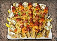 Image of Cedar Planked Paella Kabobs