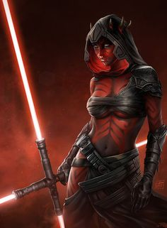 Sister of Darth Maul by danyiart on DeviantArt (detail)