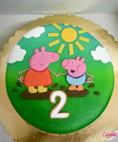 Peppa Pig, Birthday Cake, Cookies, Desserts, Food, Crack Crackers, Tailgate Desserts, Deserts, Birthday Cakes