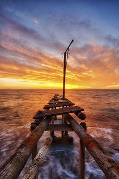 Pontile (Italy) by Michele Cimini Sunset