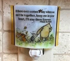 Winnie the Pooh night light  if there ever comes by cheecheesglass