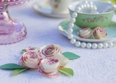 pearls and teacups and flowers - so pretty