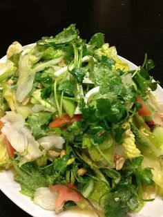 LUANG PRABANG aka YUM SALAD (lettuce and watercress salad with egg yolk dressing)