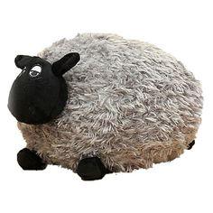 Plush Toy - Grey Sheep, Lamb Cuddle Toy Baby Nursery, Childrens Bedroom 24cm
