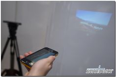 Samsung Galaxy Beam; Projection size is 50 inches max with 640x360 resolution