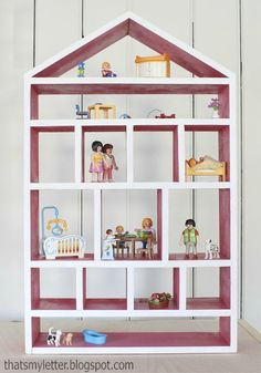 This DIY Dollhouse Wall Shelf is a great weekend project to make for your kids; rooms! They can play with and use this craft as storage space.