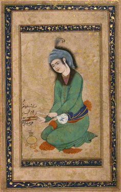 Portrait of Youth, 17th century, Iran, Collection The Metropolitan Museum of Art, New York
